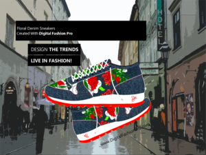 Fashion Magazine - Styles Created With Digital Fashion Pro - Designer Sneakers Footwear