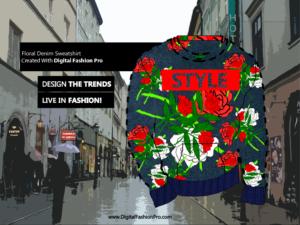 Fashion Magazine - Styles Created With Digital Fashion Pro - Designer Sweatshirt