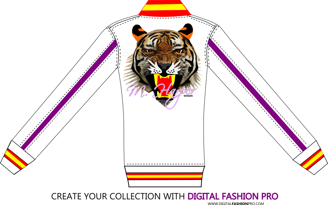 Fashion Design Software - Tiger Collection by M Harper -fashion sketch - gallery