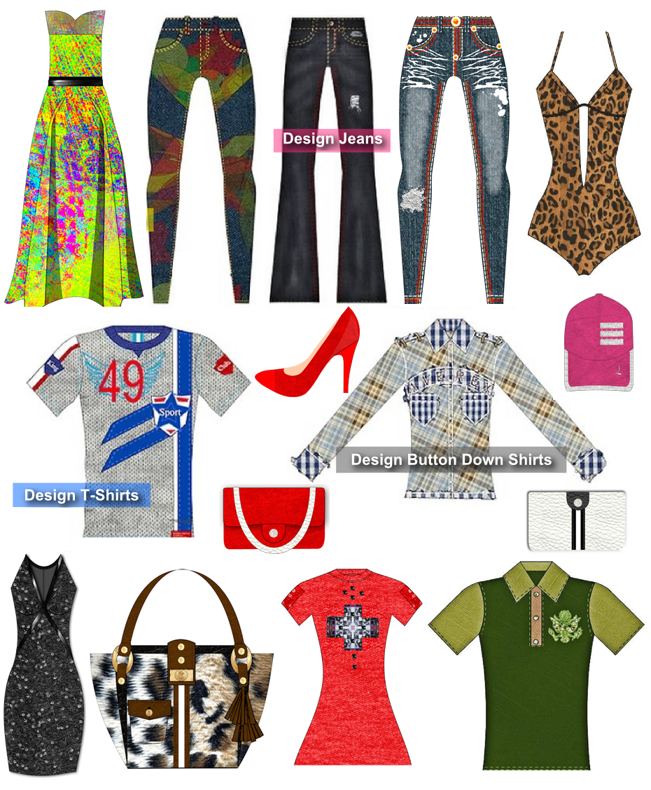 Digital Fashion Designing - With Digital Fashion Pro - Clothing Design Software - Infographic